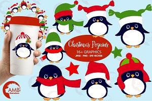 Little Penguin Cliparts, AMB-1127