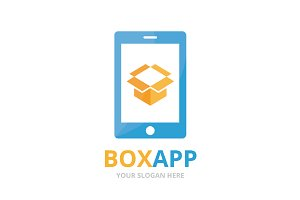 Vector box and phone logo
