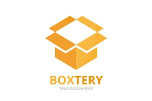 Vector box and post logo combination