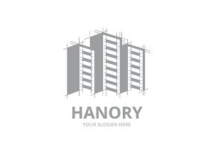 Vector skyscraper logo combination.