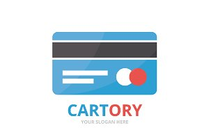 Vector credit card logo combination.