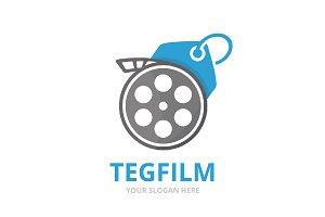 Vector movie and tag logo