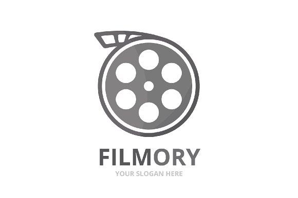 Vector movie logo combination.