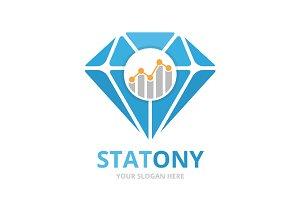 Vector diamond and graph logo