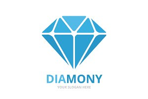 Vector diamond logo combination.