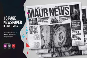 16 Page Newspaper Design v1