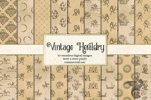 Vintage Heraldry Digital Paper