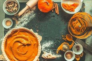 Pumpkin pie preparation