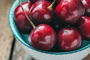 Macro photography of cherry