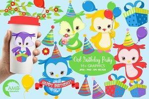 Owl Birthday Clipart, AMB-1379