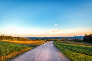 Street / landscape / golden hour