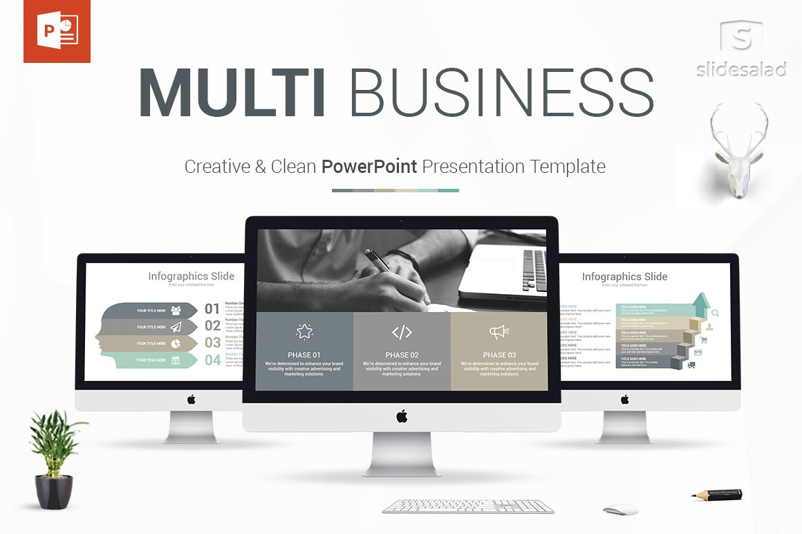 Multi Business PowerPoint Template ~ Presentation Templates ...