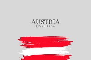 Austria Flag Brush Stroke