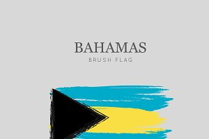 Bahamas Flag Brush Stroke
