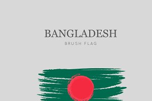 Bangladesh Flag Brush Stroke