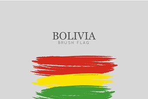 Bolivia Flag Brush Stroke