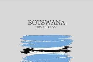 Botswana Flag Brush Stroke