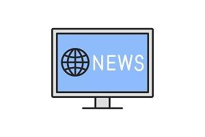 TV news color icon