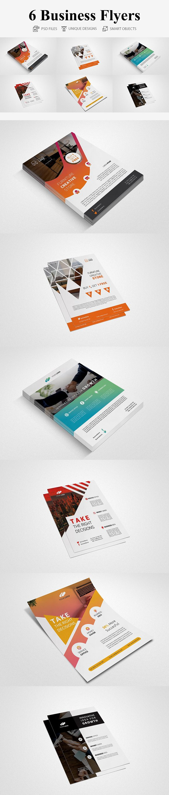 Business Flyers - 6 Templates