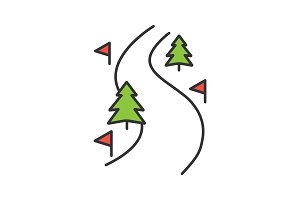 Ski route color icon