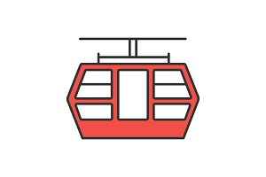 Funicular color icon