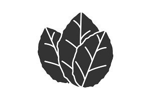 Tobacco leaves glyph icon