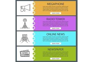 Mass media web banner templates set