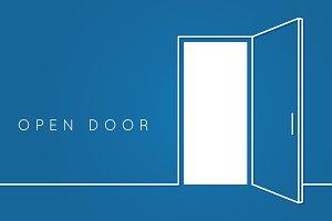 Open door line concept.