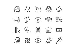 Line Bitcoin Icons