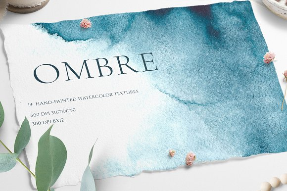 SALE Ombre Watercolor Texture