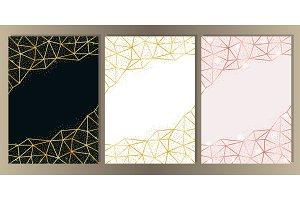 Glitter and Geometric Frame Set