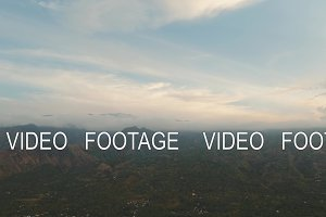 View of mountain landscape. Bali