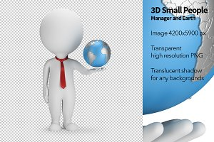 3D Small People - Manager and Earth