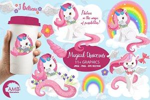Magical Unicorn Clipart, AMB-1381