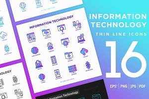 Information Technology Icons Set