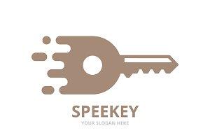 Vector fast key logo combination.