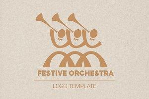 Festive Orchestra Music Logo