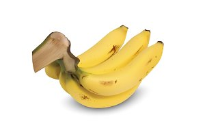 Realistic yellow ripe banana
