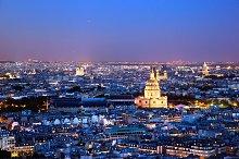 Paris at night, panorama