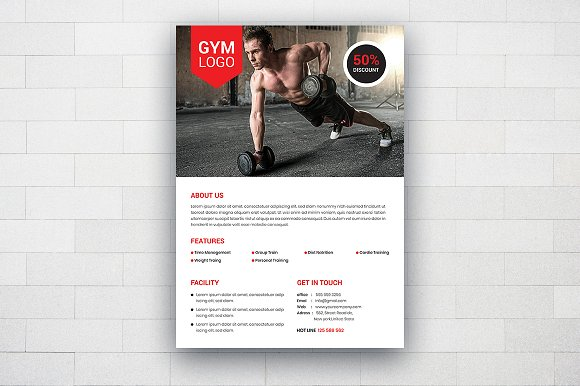 Fitness Flyer Template Templates Creative Daddy