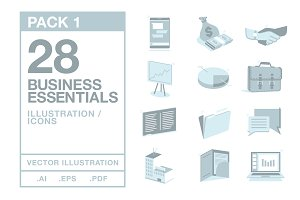 Business Essentials Icons #1