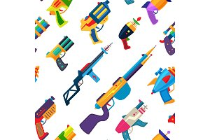 Cartoon gun vector toy blaster for