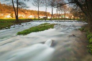 Beautiful river in Galicia, Spain.