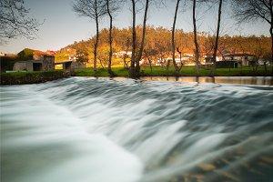 Belelle river in Neda, Galicia, Spai