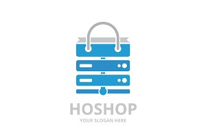 Vector host and shop logo