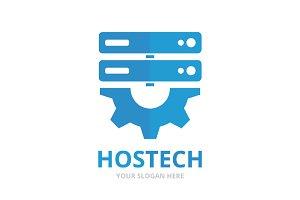 Vector host and gear logo