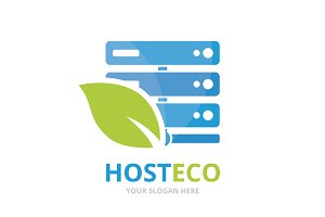 Vector host and leaf logo