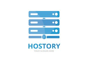 Vector host logo combination.