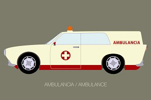 european vintage ambulance