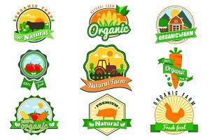 Organic farm logos